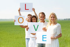 Love and friendship Stock Photography