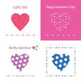 Love and friendship greeting cards collection Stock Image