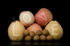 Love the fruit group Royalty Free Stock Photo
