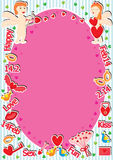 Cupid Love Frame_eps Royalty Free Stock Photography