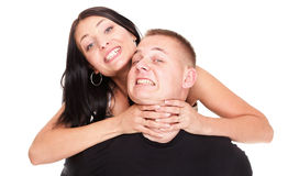 Love fury young man and woman. Stock Photos