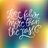 Love Future Typography Royalty Free Stock Photos