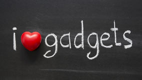Love gadgets Stock Images