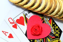 Love gamble Royalty Free Stock Image