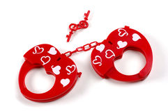 Love game. Cuffs Stock Images