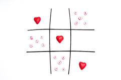 Love game of noughts and crosses Stock Photography