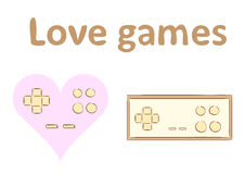 Love games and gamepad Royalty Free Stock Photography