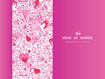 Love garden horizontal pattern background Stock Photos