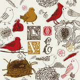 Love Garden Pattern Stock Photos