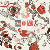 Love Garden Pattern Stock Images