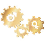 Love gears Stock Photo