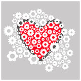 Love of gears and mechanism. Vector flat Stock Photos