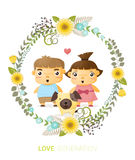 Love generation greeting card Royalty Free Stock Photography