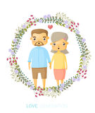 Love generation greeting card Royalty Free Stock Image