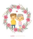 Love generation greeting card Royalty Free Stock Photo