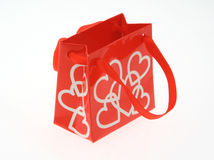 Love gift bag on white Stock Photography