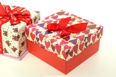 Love Gift box, Life Events. Love Gift box, Life Events on white background stock photo
