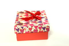 Love Gift box, Life Events. On white background royalty free stock images