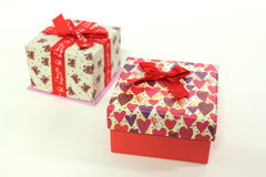 Love Gift box, Life Events. On white background royalty free stock photography