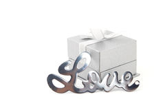 Love with gift box Royalty Free Stock Images