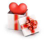 Love in gift box Royalty Free Stock Photo