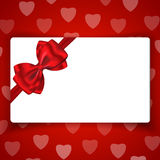 Love gift card with blank space for greetings Stock Photos