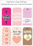 Love Gift Tags Royalty Free Stock Photos