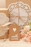 With love. Gifts packs packaging and decoration Royalty Free Stock Photos