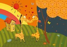 Love and giraffes Stock Photos