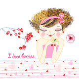 In love with a girl royalty free illustration