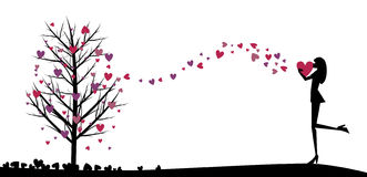 Love girl vector Stock Image