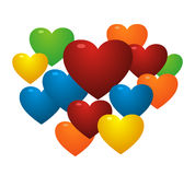 Love. Colorful love icon design illustration Royalty Free Stock Image