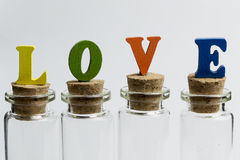 Love and glass. Royalty Free Stock Photo