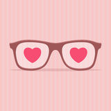 Love glasses - Valentines day illustration Royalty Free Stock Images