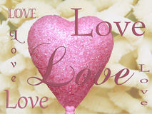 Love and Glitter Stock Images