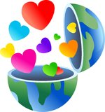Love globe Royalty Free Stock Images