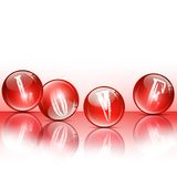 Love glossy balls Royalty Free Stock Photo