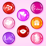 Love glossy buttons Royalty Free Stock Photo