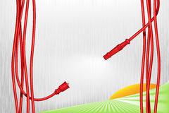 Love goes on wires Stock Image