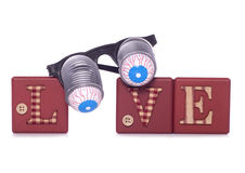 Love goggles Royalty Free Stock Images