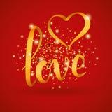 Love gold letter heart balloon Stock Photos