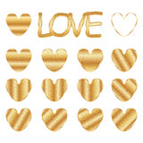 Love golden stain set Stock Images