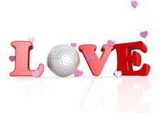Love golf. Rendered artwork with white background royalty free illustration