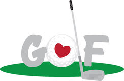 Love Golf Royalty Free Stock Photos