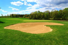 Love Golfing. Golf Course with heart-shaped sand bunker  in spring, Virginia United States Stock Photography