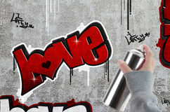 Love graffiti Royalty Free Stock Photos