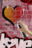 Love graffiti Stock Photo