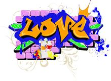Love graffiti Royalty Free Stock Photography