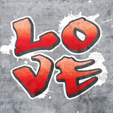 Love graffiti Royalty Free Stock Images