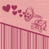 Love gramophone Stock Photography